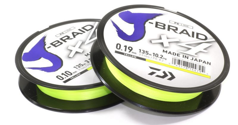 Шнур J-Braid X4 135м 0,19мм fluo yellow